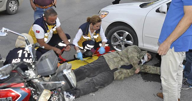 Konya'da motosikletle otomobil çarpıştı: 1 yaralı