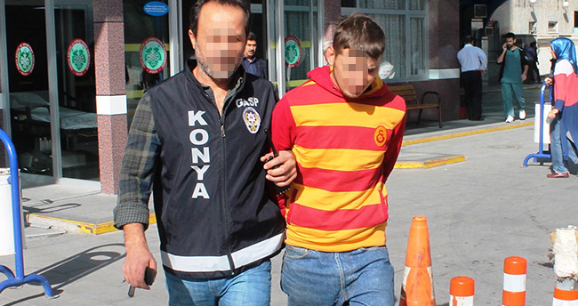 Konya'da satırlı gasp!