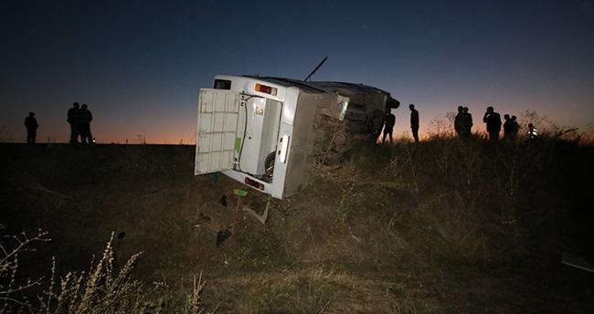 Hüyük'te kazaya neden olduğu iddia edilen kamyon sürücüsü yakalandı