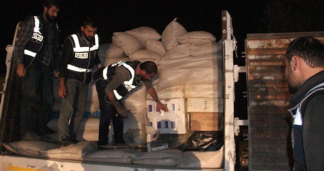 Konya'da kaçak sigara sevkiyatı