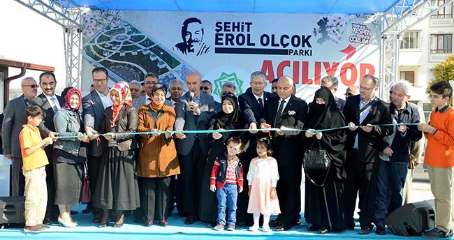 Konya'da Şehit Erol Olçok Parkı hizmete açıldı