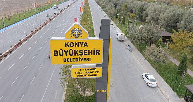 """Konya'da Birlik Parkı'nın adı """"15 temmuz milli irade ve birlik parkı"""" oldu"""