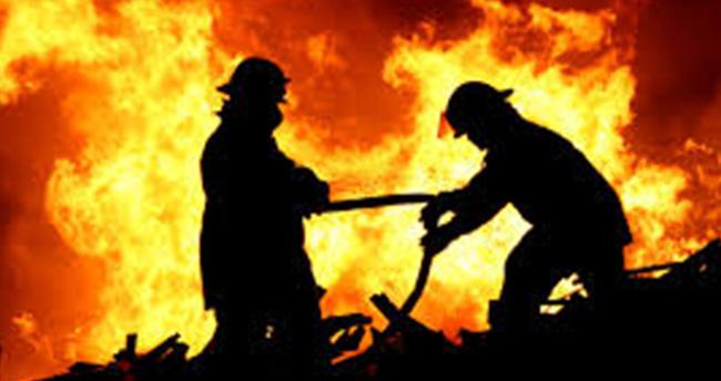 Konya'da ahır yangını