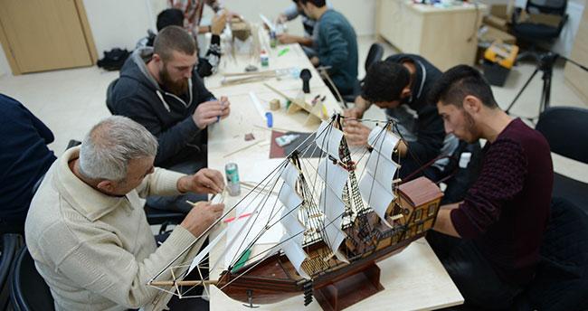 Konya'da ilk kez açılan model gemi kursuna yoğun ilgi
