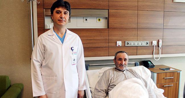 Kalp krizinden geldi, mesanesinden tümör çıktı