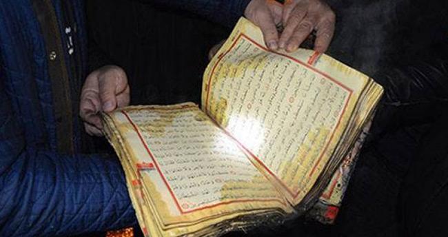 Bir tek 'Kur'an'ı Kerim' yanmadı!
