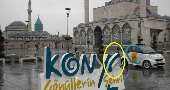 Konya Gönüllerin Şehri yazısı 5. kez tahrip edildi!