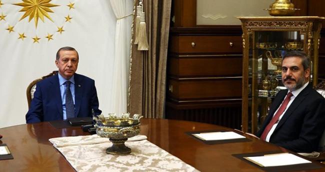 Erdoğan MİT Müsteşarı Fidan'ı kabul etti