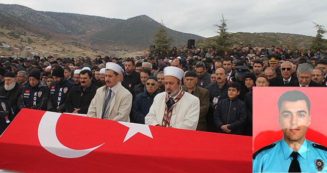 Konyalı şehit polis Oğuzhan Duyar son yolculuğuna uğurlandı