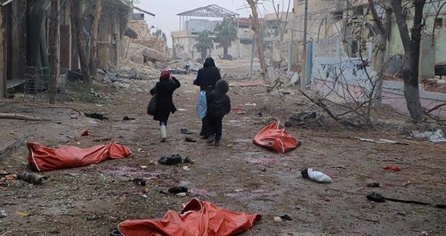 İran Büyükelçiliği önünde Halep protestosu