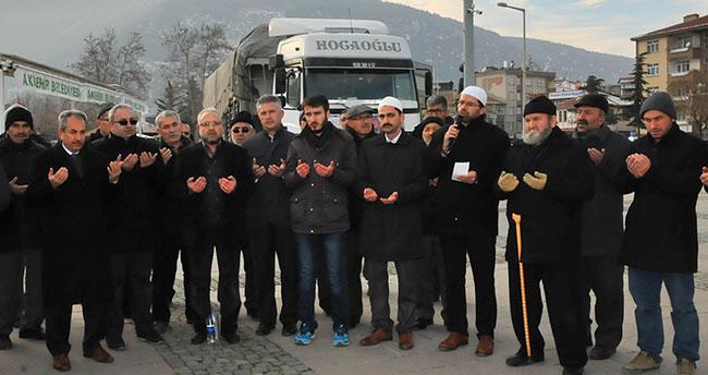 Akşehir İHH'dan Halep'e yardım