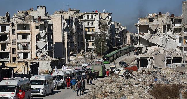 Rejim yanlısı terörist gruplar, Halep'teki tahliye konvoyunda 800 kişiyi rehin alındı