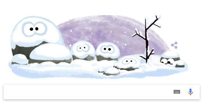"""Kış başladı! – Google'da kış """"doodle"""" oldu"""