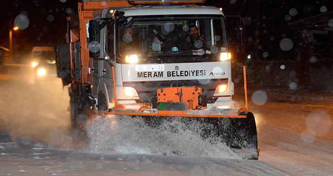 Meram Belediyesi kar alarmında