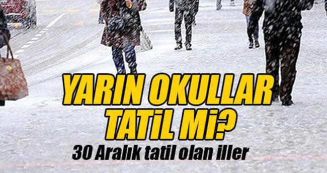 30 Aralık Cuma Konya'da okullar tatil mi? – Konya Valiliği açıkladı