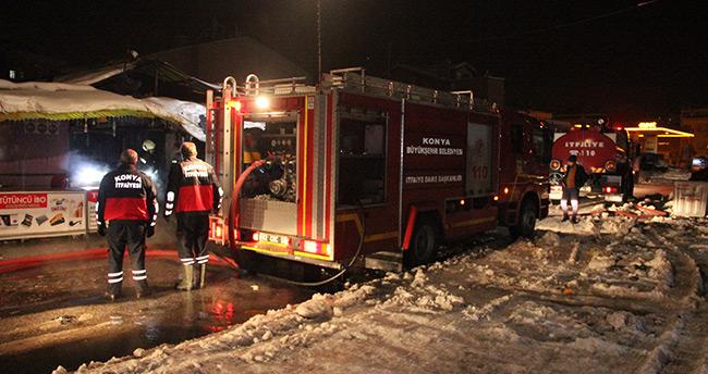 Konya'da iş yeri yangını! – Kundaklama şüphesi
