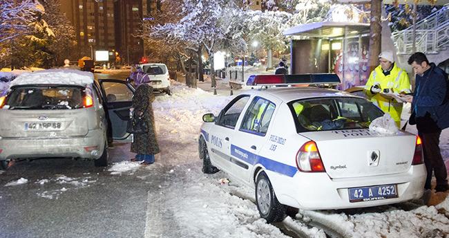 Konya'da yılın ilk trafik cezası kesildi