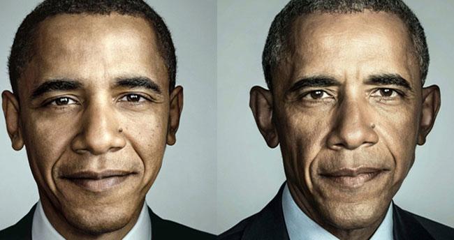 Obama'nın görevi boyunca yaşadığı değişim yüzüne yansıdı