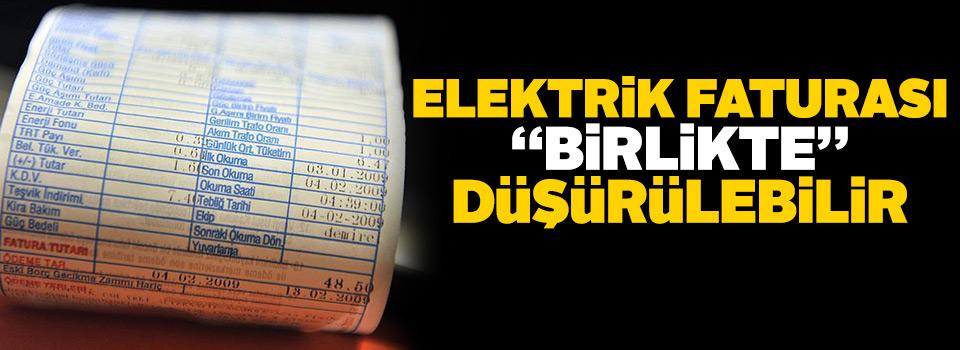 Elektrik faturası 'birlikte' düşürülebilir