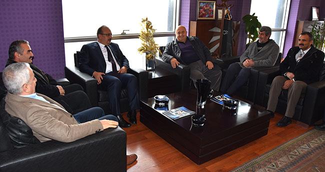 Konya Valisi Yakup Canbolat Büsan'ı ziyaret etti
