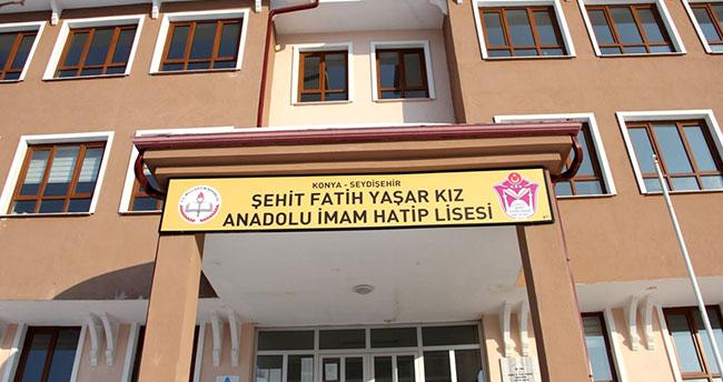Seydişehir'deki okula şehit Yaşar'ın ismi verildi