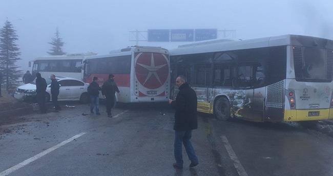 Konya'da zincirleme trafik kazası : 40 araç birbirine girdi