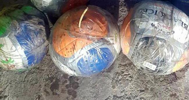 Teröristler topların içerisine patlayıcı tuzaklamış