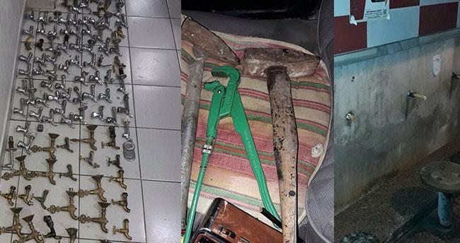 Konya'da musluk hırsızlığı şüphelisi yakalandı