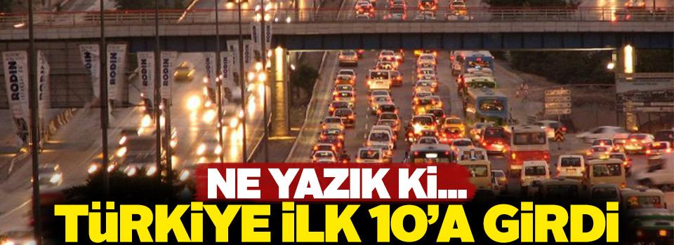 Türkiye trafik sıkışıklığının en yoğun olduğu ilk 10 ülke arasında yer aldı