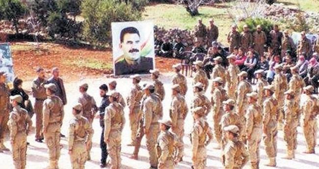 YPG'den Apo posteri altında yemin