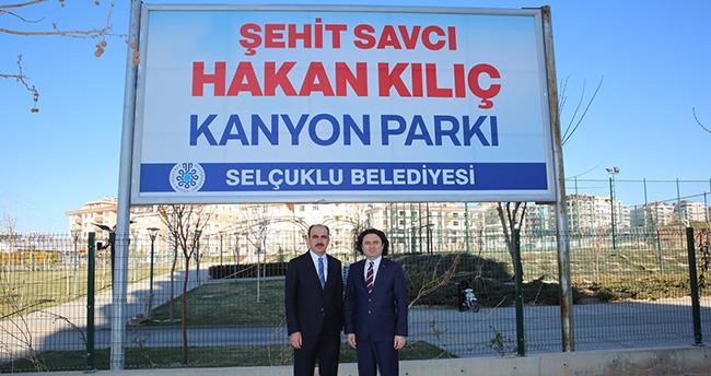 Şehit Savcı Hakan Kılıç;'ın ismi Konya'da parkta yatılacak