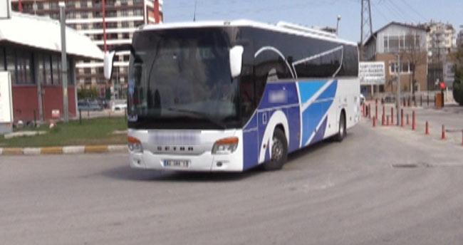 Konya'da sivil polisten yolcu otobüsüne trafik denetimi