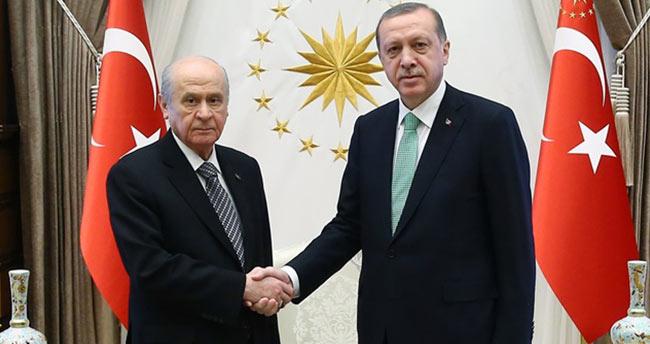 Bahçeli'den Erdoğan'a teşekkür telefonu