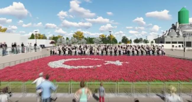 Konya'da Türkiye'nin en büyük lale halısı!