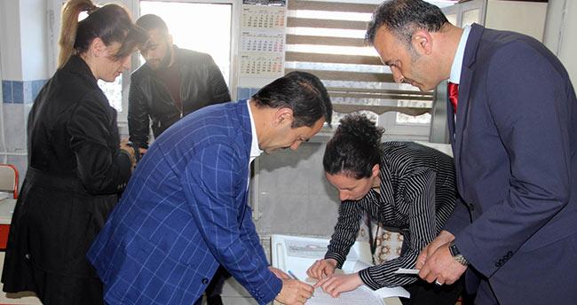 Nevşehir'de oy verme işlemi başladı