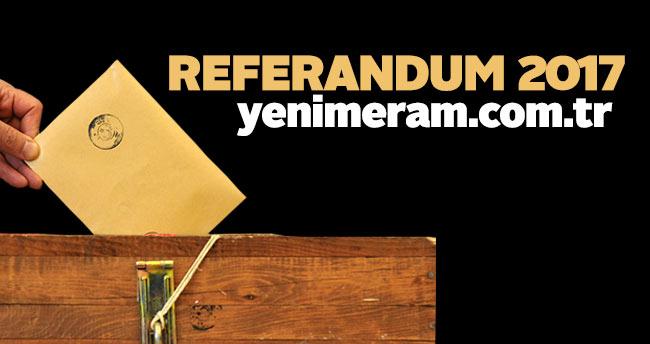 Konya'da sandıklar kapandı oy sayım işlemleri başladı