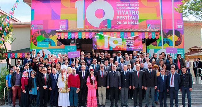Konya'da, Bin Nefes Bir Ses Uluslararası Tiyatro Festivali başladı