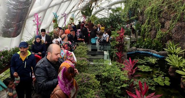 Tropikal Kelebek Bahçesi Ziyaretçi Akınına Uğradı