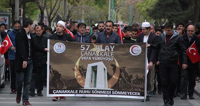 Konya, Çanakkale vefa yürüyüşünde
