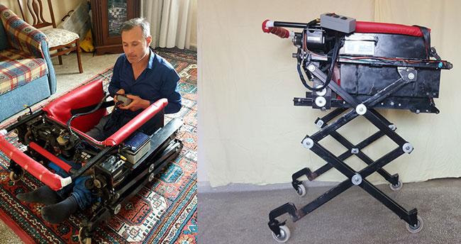 """Engelli ve yatalak hastalar için """"robotik sandalye"""" yaptı"""