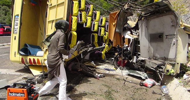 Muğla'da 24 kişinin öldüğü kaza anı böyle görüntülendi