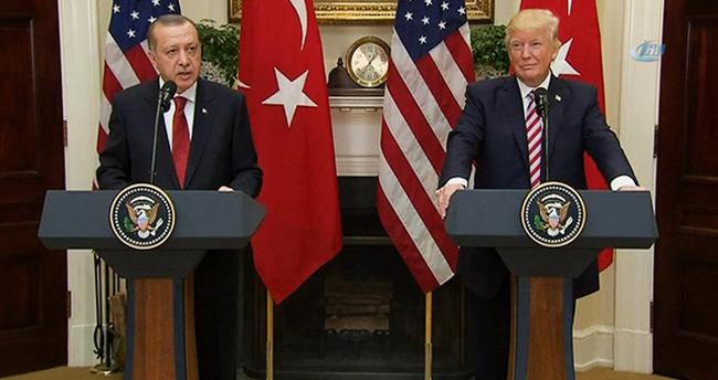 """Erdoğan'dan Beyaz Saray'da """"YPG/PYD"""" mesajı"""