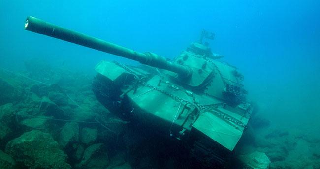 TSK'ya ait 45 tonluk tank batırıldı!