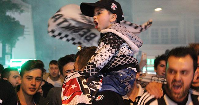 Konya'da Beşiktaş'ın şampiyonluğu coşkuyla kutlandı