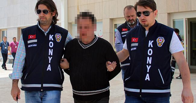 Konya'daki emekli polis memuru cinayetinde zanlı tutuklandı