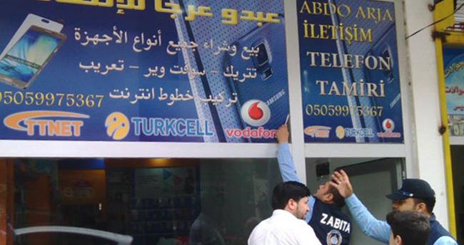 İskenderun'da Arapça tabelalar kaldırılıyor