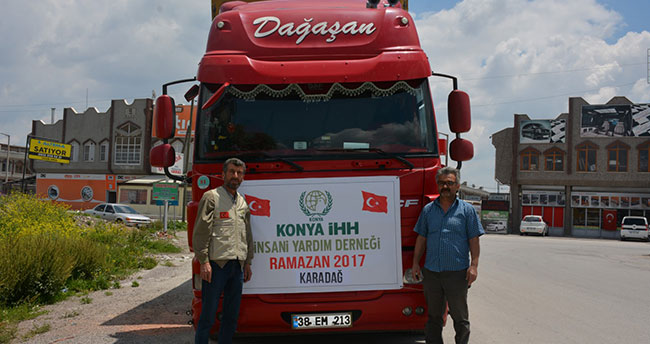 Konya'dan Karadağ'a yardım eli uzandı