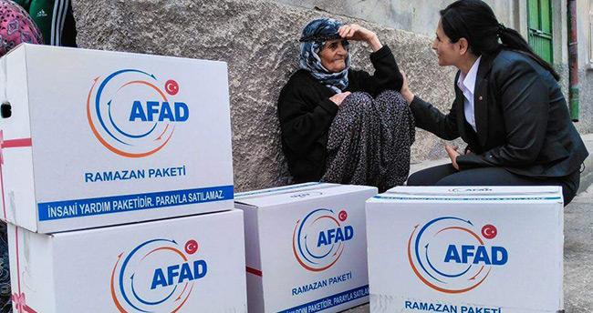 Konya AFAD'dan Suriyelilere yardım