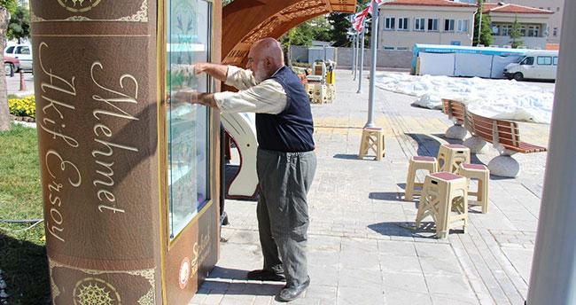 Seydişehir'e sokak kütüphanesi