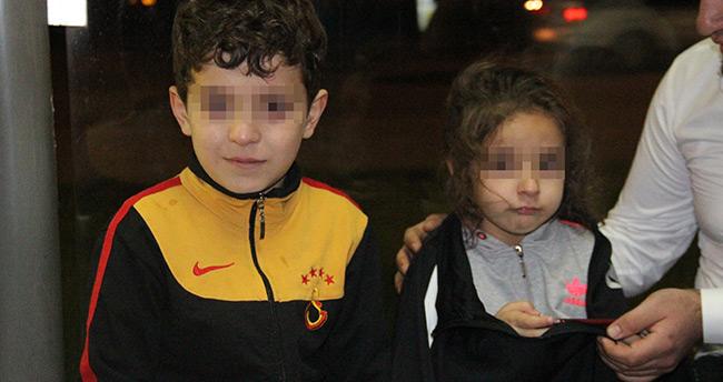 Konya'da tramvayda unutulan çocuklar annesine teslim edildi